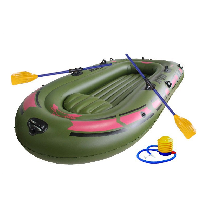 1 Set Kids Portable Inflatable Single Boat High strength PVC Rubber Fishing Boat 150x90cm One Person Boat with Paddles and Pump(China (Mainland))