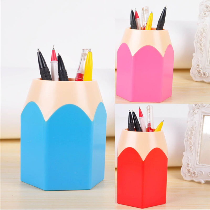 1pcs Pen Vase Pencil Pot Makeup Organizer Brush Holders Stationery Container Office Desk Organizer Pen Holder(China (Mainland))