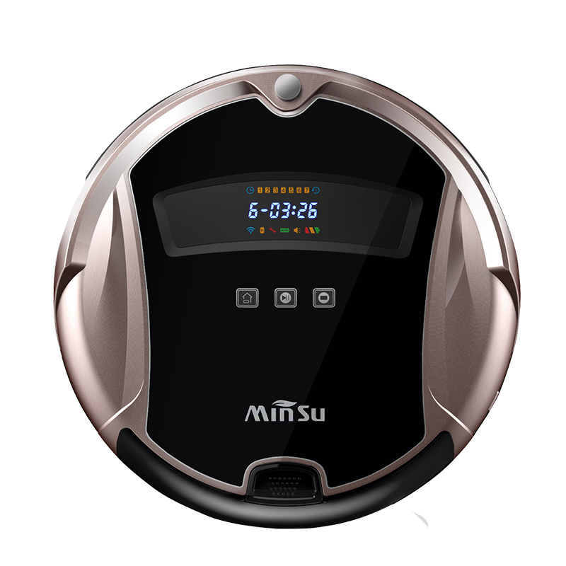 Free Shipping Smart Robot Vacuum Cleaner ROBOTIC Wet and Dry Clean MOP Water Tank HEPA Filter Ciff Sensor Self Charge ASPIRADOR(China (Mainland))