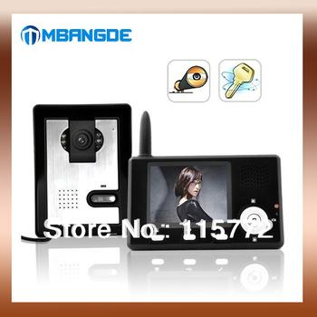 Free Shipping ! Entry Guardian Wireless Color Video Door Phone Doorbell CMOS Sensor Intercom System Door Bell