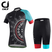 2016 Cheji Mandala women Cycling Jerseys and Pants Bicycle Set Short Sleeve cycling clothing Mixed Size free shipping