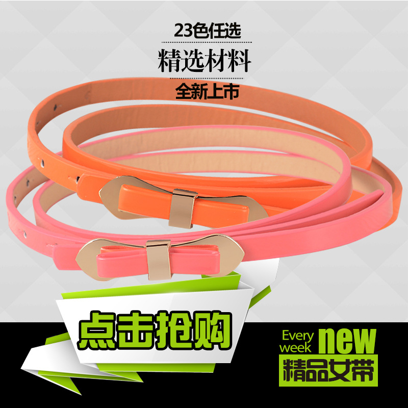 2015 New Multi All-match Lady Thin Decoration Belt Ladies Fashion Belt Factory Direct(China (Mainland))