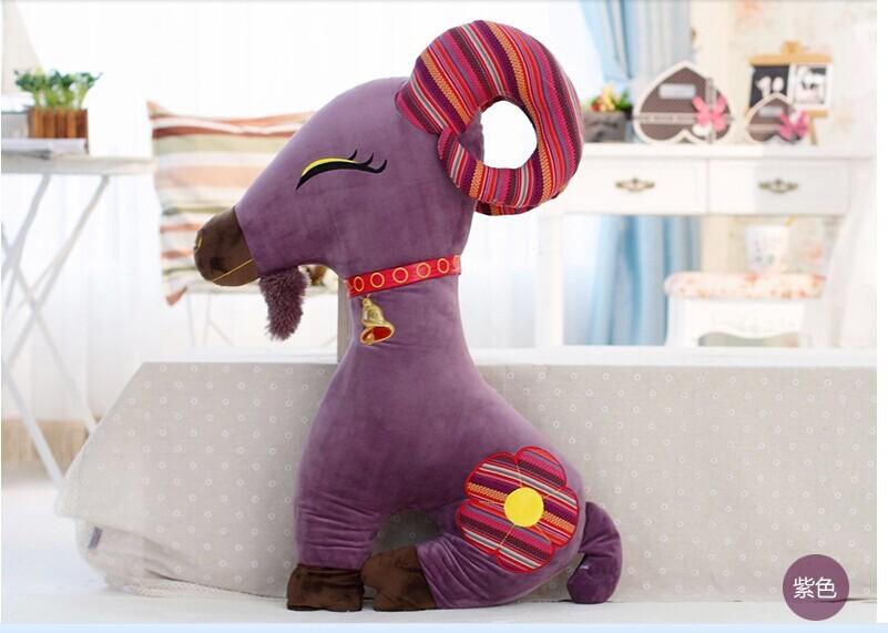 creative new goat plush toy purple goat stuffed toy boyfriend pillow birthday gift about 95cm(China (Mainland))