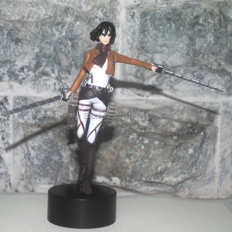 Brand New FT-001 Cool Attack on Titan Mikasa Ackerman 14cm PVC Cartoon Action Figure Model Toy For Children/Gift -Free Shipping(China (Mainland))