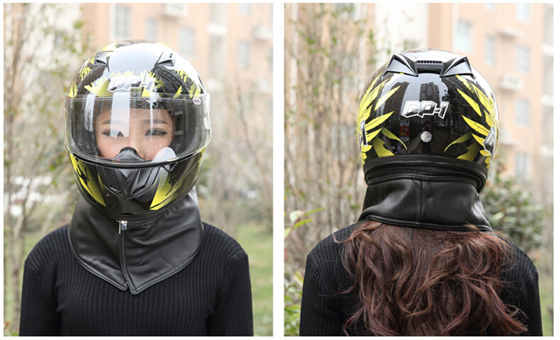 EE support fashion unisex men and women fog lenses motorcycle helmet with scarf motos motocross full face capacete winter XY01