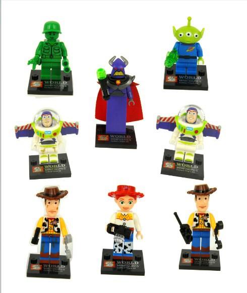 8pcs/lot SY172 Toy story action figures Buzz Lightyear/ Big devil/ Mr Potato Head/Jessie/Woody Minifigures building block sets(China (Mainland))