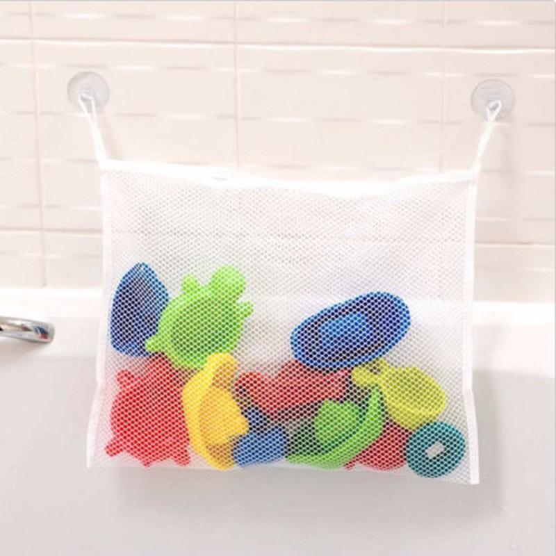 household dirty laundry mesh basket kids baby bath tub toy storage net foldin. Black Bedroom Furniture Sets. Home Design Ideas
