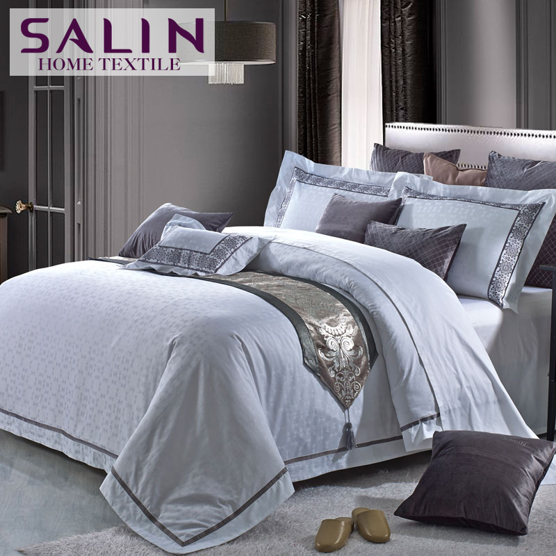 Salin long staple cotton 80s 400tc five star hotel bedding for Luxury hotel 750 collection sheets