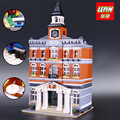 LEPIN 15003 Creators The Town Hall Model Building Kits Block Kid 2859Pcs Bricks Compatible With Legoed