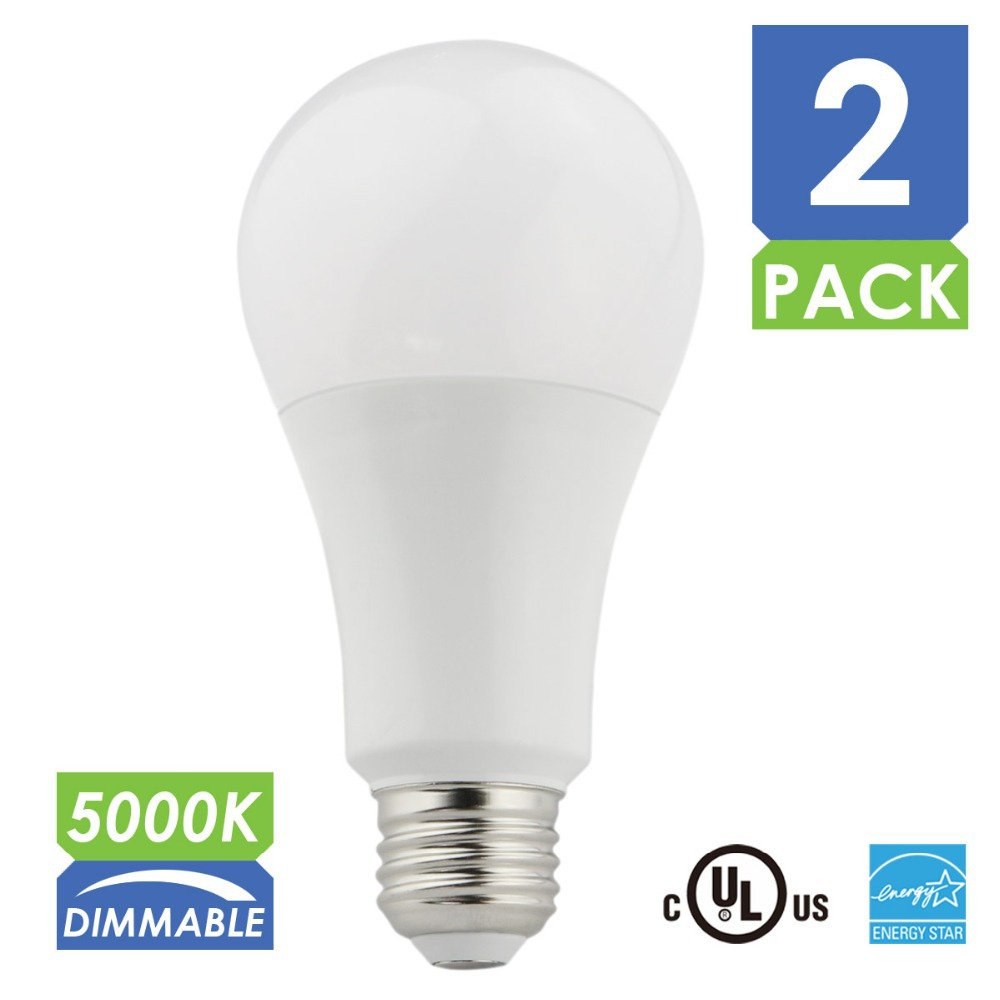 2pcs/lot Dimmable LED A21 Light Bulbs,75W Incandescent Bulbs Equivalent, 1100LM, Daylight 5000k 120v E26 UL and Energy Star(China (Mainland))