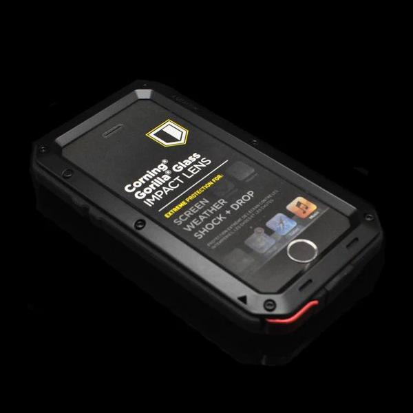 Aluminum Metal Element Waterproof Shockproof Mobile Phone Cover Case For iPhone 5 5S SE Gorilla Tempered Glass Cell Phones Case(China (Mainland))