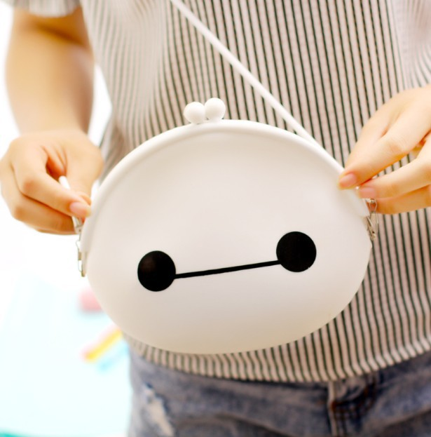 New arrival women's cute silicone change purse key bag big hero coin purse kids gift(China (Mainland))
