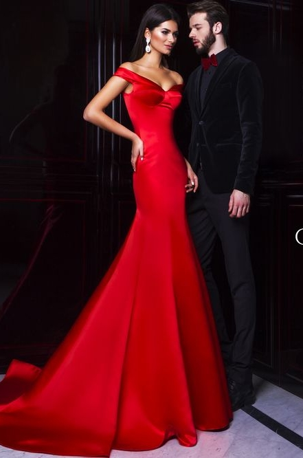 Red Mermaid Prom Dress 2016 Sweetheart Off Shoulder Sexy Backless Long Evening Dress Woman Summer Formal Gowns(China (Mainland))