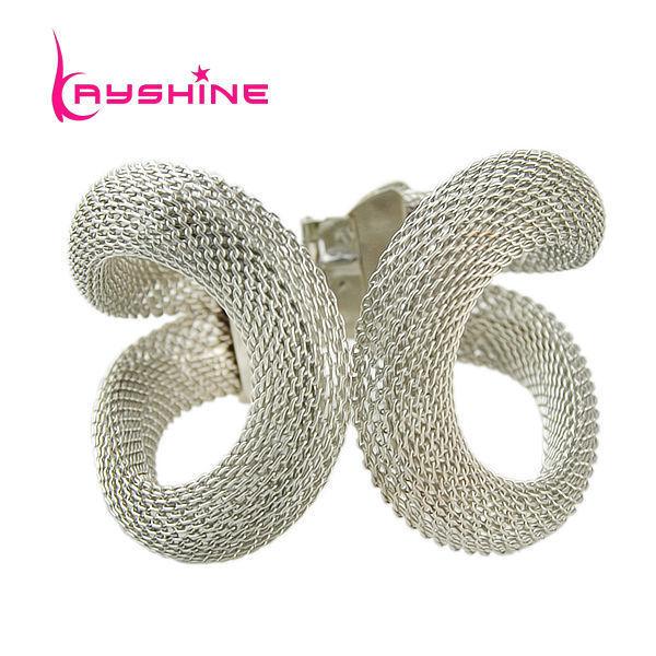 Kayshine  Fashion Designer Jewelry Big Silver Color Cuff Bangles and Bracelets for Women Pulseira De Prata