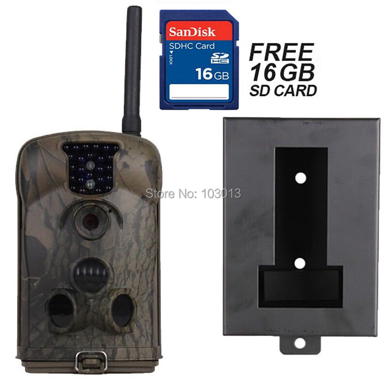 16GB+Ltl Acorn 6210MM 6210MG 940nm HD 1080P 12MP MMS GPRS Trail Scouting Hunting Game Camera+Security Iron Box(China (Mainland))