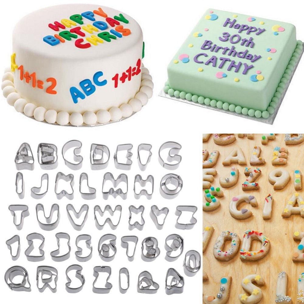 37Pcs Alphabet Letter Number Cake Cookie Decorating Cutter Sugarcraft Mold Mould Unique Design(China (Mainland))