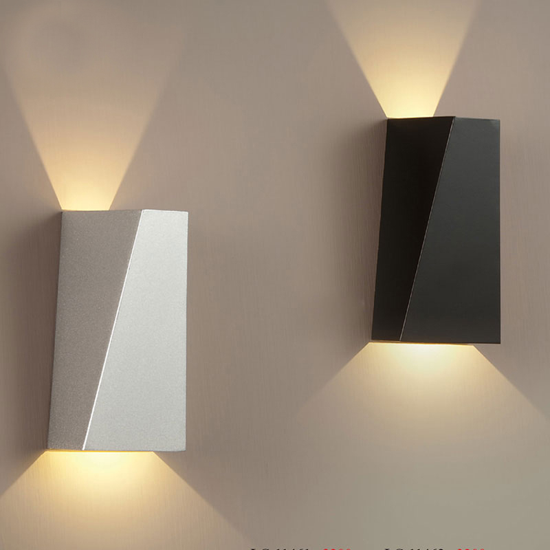 Wall Lamps White : 2015 New Modern Lampara Led Pared Iron Reading Light Headboard White/Black Indoor Wall Lamp ...