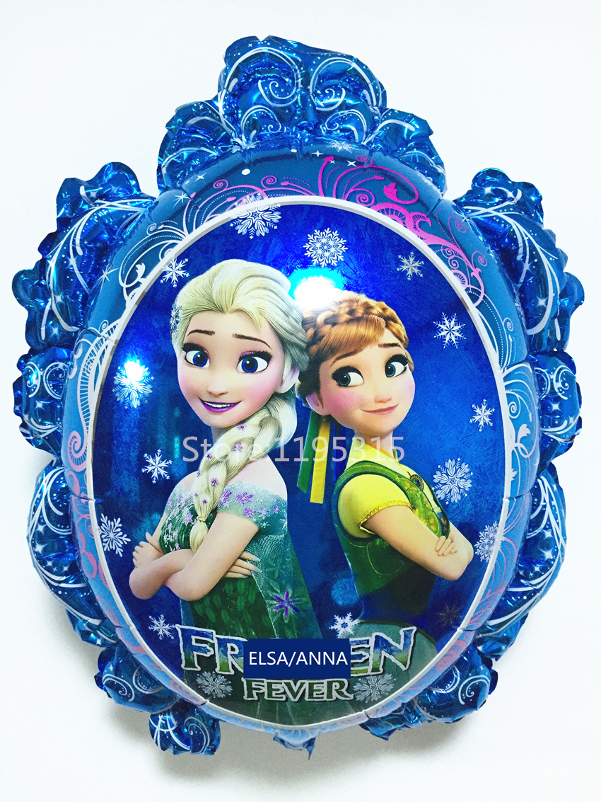 1PCS Frozenned Balloons Elsa Anna Blue Inflatable Air Foil Balloon Blue Party Supplies Toys Christmas Kid Birthday Decoration #Z(China (Mainland))
