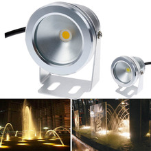 New 1000LM 10W COB LED Underwater Light 12V AC/DC Cool White Warm White Silver Shell IP68 Waterproof For Foutain Pool Lighting(China (Mainland))
