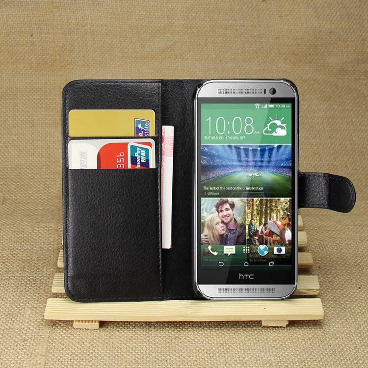 PP one mini2 capa fundas Wallet Leather Phone Case For HTC One2 mini 2 flip cover With card Holder & stand Function Bags(China (Mainland))