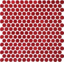 11 шт. красный пенни круглая керамическая мозаика кухня щитка стене ванной душ прихожая камина границы плитка украшение дома