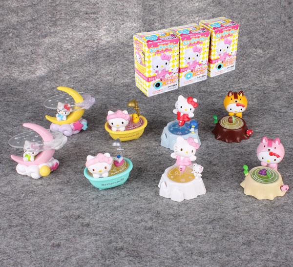 Hello Kitty Moon Serise 2015 Model Cartoon American Toys Movies Anime FI086 New Figurinne Set Toy Marvel Figure(China (Mainland))