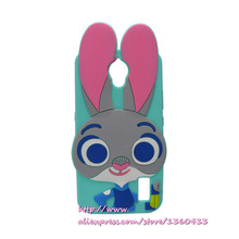3D Cartoon Zootopia Judy Rabbit Soft Silicon Case Phone CoverFor Huawei Ascend Y625 Y635 Free Shipping