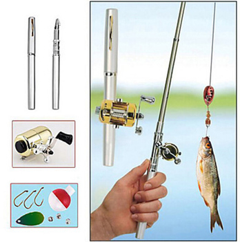 Super strong alloy telescopic collapses fishing rod rods pole tackle reel bobber steel hook components tool equipment  3 feet