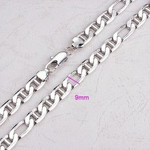 FREE SHIPPING!!! QUALITY 24KGP PLATINUM 610MM MEN'S CHAIN NECKLACES, COME WITH A FREE GIFT BOX!  (RZ1179-A109)(China (Mainland))