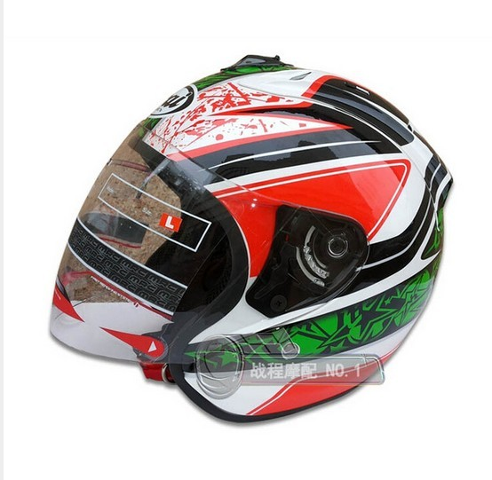 Free of charge the hull motorcycle helmet ARAI DVS double system bill's motorcycle helmet DOT half of her face(China (Mainland))