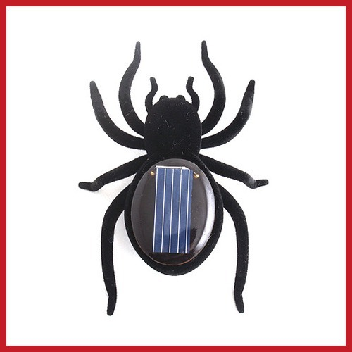 bangprice Educational Solar Powered Black Spider Toy Gadget Kids Hot(China (Mainland))