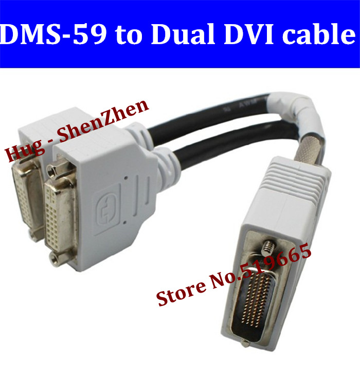 New DMS 4pcs 59 to DVI cable DMS-59 to Dual DVI video Cable 59pin to 2*DVI 24+5Y Video Splitter cable free shipping(China (Mainland))