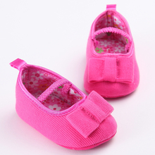 S1485 New Fashion White Newborn to 18 Month Bow Beautiful Cute Soft Sole Tassel Rose Baby Girls Toddler Shoes