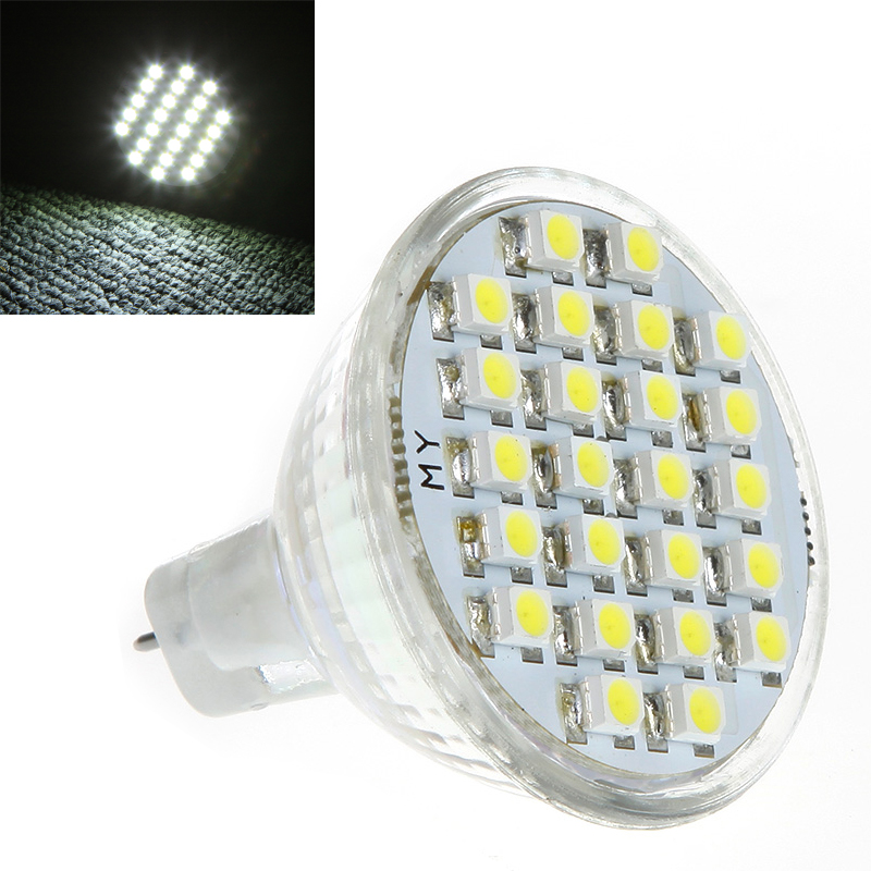 Energy-Saving 1.5W MR11 GU4 LED Bulb 24 3528 1210 SMD White Lampada Led Lamp Spot Light Bulbs(China (Mainland))