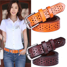 Buy New Women Fashion Wide Genuine Leather Belt Woman Without Drilling Luxury Jeans Belts Female Top Straps Ceinture Femme for $6.85 in AliExpress store