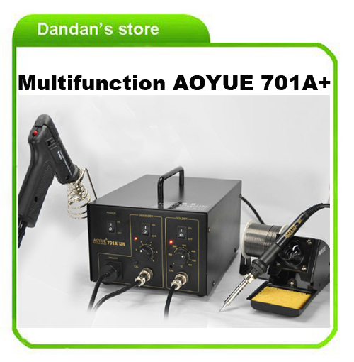 110v/220v AOYUE 701A+ repair rework station welder station , solder iron and smoke suction pen(China (Mainland))