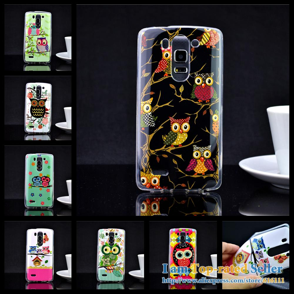 Luxury Owl IMD TPU Silicon Soft TPU golden shiny tiny powder LG G3 Mini LG G3 Beat / B2 mini / G3 S cell phone cases