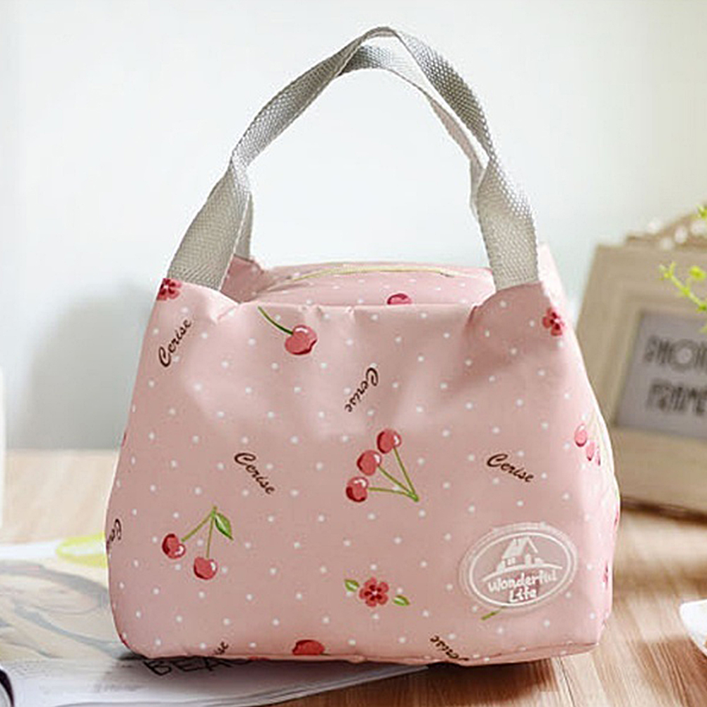 Portable 2017 Fashion Insulated lunch Bag Floral Thermal Food Picnic Lunch Bags for Women kids Men Cooler Lunch Box Bag Tote