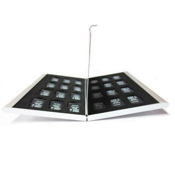 Современный стиль серебряные алюминиевого карт памяти хранения чехол коробка держатели для микро-памяти SD карта 24TF