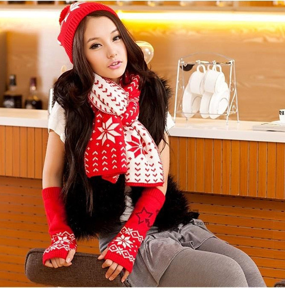 New Arrival Fashion Winter Hat Scarf Cute Knit Crochet Beanies Cap Hats For Women Warm Scarf And Hat Knitted Hat 5 Colors