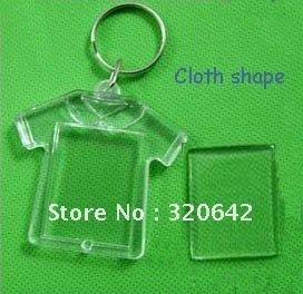 100pcs Blank Acrylic photo studio promotion gift key ring,plastic photo frame keychain,fashion keychian/keyring, free shipping(China (Mainland))