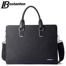 Bostanten New Men Split Leather Briefcase Laptop 13 inch Men Briefcase Business Bag Male Shoulder Bag Crossbody Bag Tote Handbag(China (Mainland))