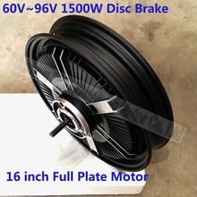60V 96v powerful full plate electric motorcycle motor / 16 inch 1500w brushless hub motor G-M090(China (Mainland))