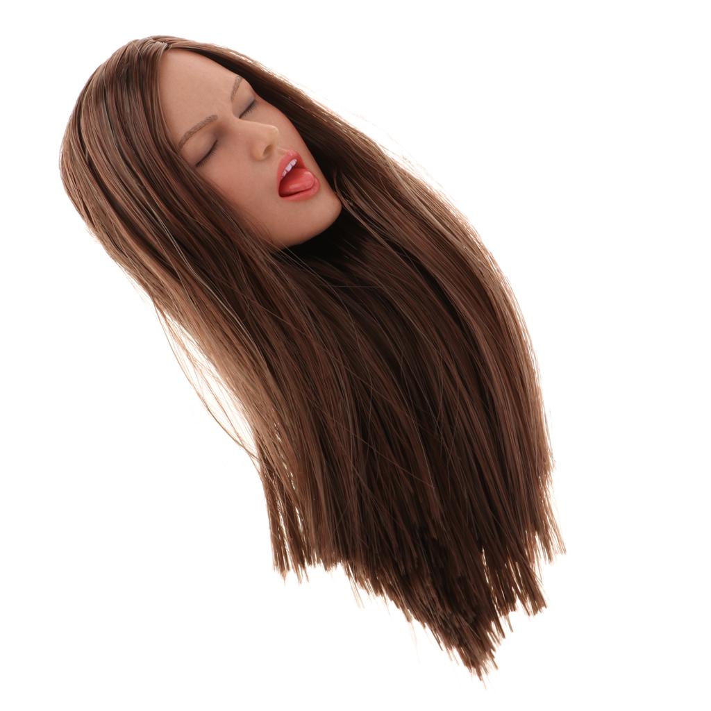 1/6th Female Head Sculpture Sculpt for Phicen/Kumik 12inch Action Figure B