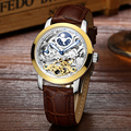 LIGE 2017 luxury brand Casual Clock Men s Automatic Watches Skeleton Business Reloop male watch golden