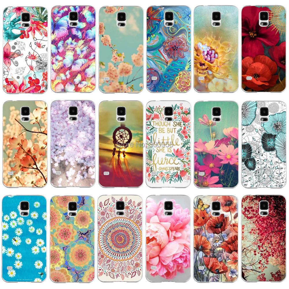 Гаджет  Free Shipping Plastic Case For Samsung Galaxy S5 i9600 Bloom Flowers Sunshine Colorul Paint Back Hard Case WHD1202 1-21 None Телефоны и Телекоммуникации