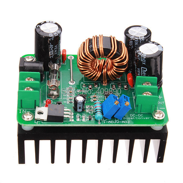 20PCS/LOT DC-DC 600W 10-60V to 12-80V Boost Converter Step-up Module Power Supply(China (Mainland))