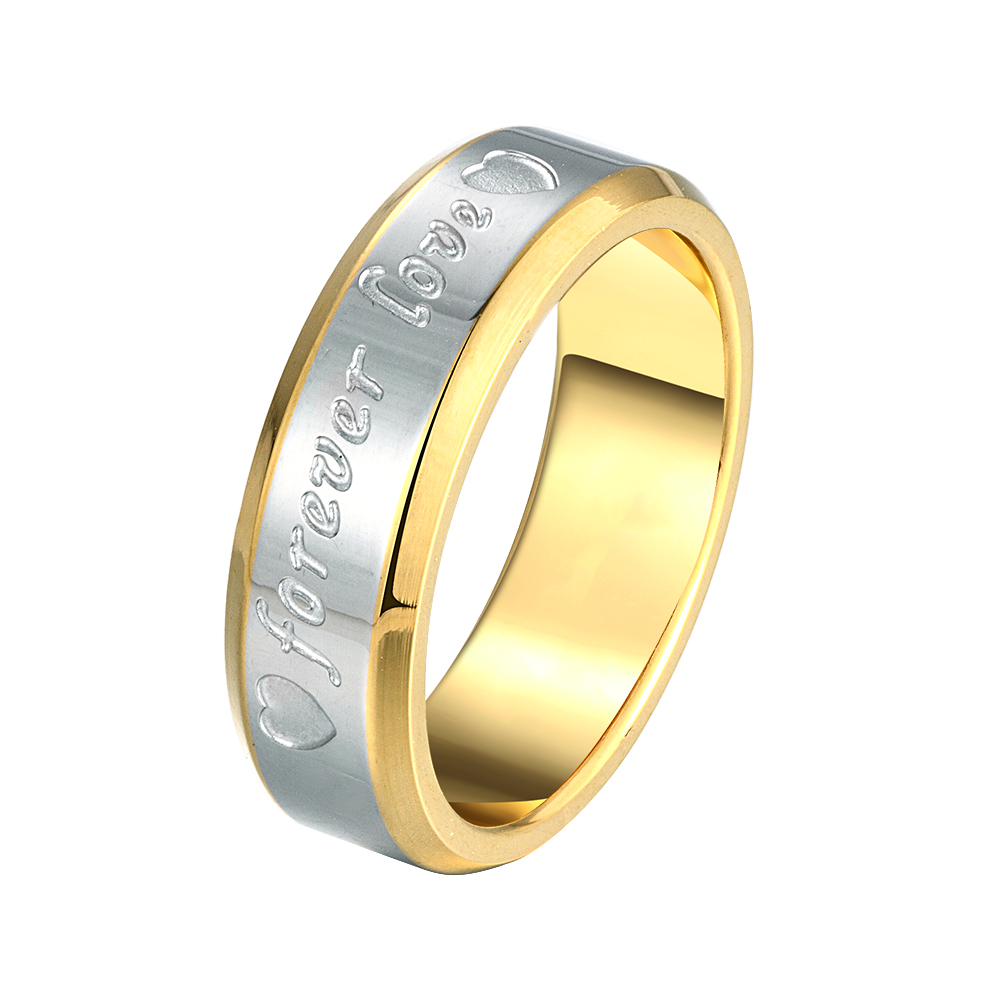 2016 new ultra low-cost explosion models forever love steel ring - men's best gift to give the other half(China (Mainland))