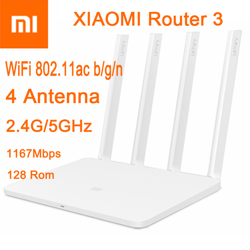CPU MT7620A ROM 128MB Flash original xiaomi mi WiFi router 3 Dual band 4 antenna 5GHz 1167Mbps WiFi 802.11ac b/g/n APP Control(China (Mainland))