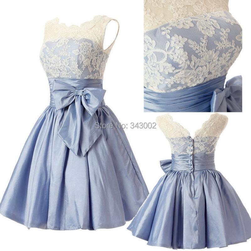 Free shipping girl s beach wedding dress charming bridal for Light blue beach wedding dress
